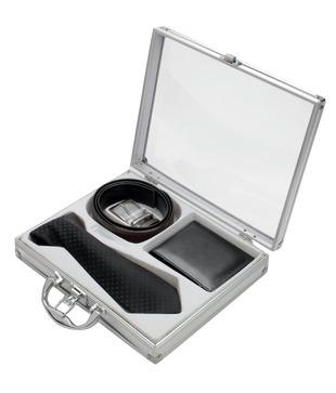 Firenzi Black Tie, Wallet   Belt Gift Set
