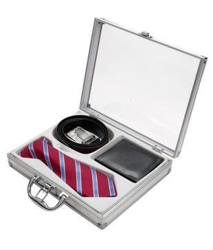 Firenzi Charming Tie, Wallet   Belt Gift Set