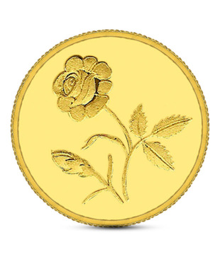 2gms 24kt 995 Purity Gitanjali Rose Gold Coin