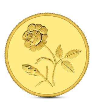 5gms 24kt 995 Purity Gitanjali Rose Gold Coin