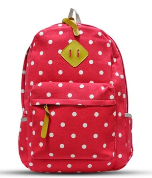 A-Maze Red Polka Dots Backpack