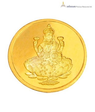 Infinium 24kt 2g 995 Purity BIS Hallmarked Laxmi Gold Coin