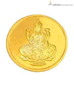 Infinium 24kt 2g 999 Purity ASSAY Certified Laxmi Gold Coin