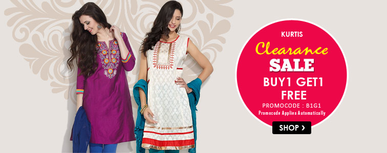 12c5a3ca625 Buy 1 Get 1 – Kurtis Clearance Sale   Snapdeal